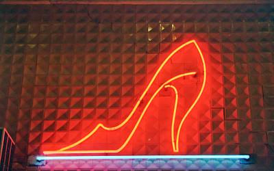 Neon Photograph - Red Shoe by Matthew Bamberg
