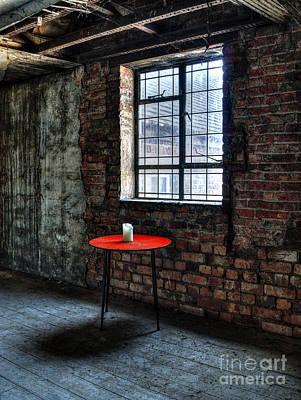 Red Table Print by Steev Stamford