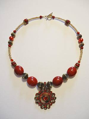 Necklace Photograph - Red Treasure by Jenna Green