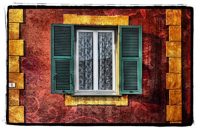 Red Wall Print by Mauro Celotti