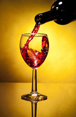 red Wine Filling the glass Original by Jesus Cervantes