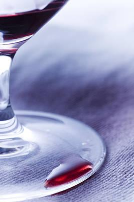 Mess Photograph - Red Wine Glass by Frank Tschakert