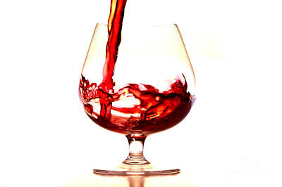 Pouring Wine Photograph - Red Wine by Michal Boubin