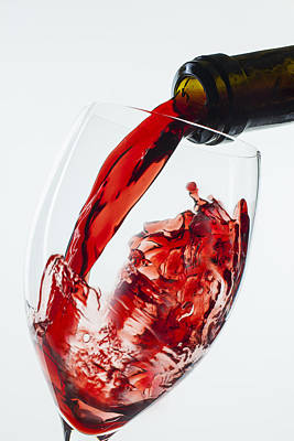 Red Wine Pour Print by Garry Gay