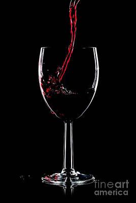 Red Wine Splash Print by Richard Thomas