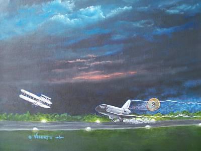 Atlantis Painting - Redo Sky First And Last by Dennis Vebert