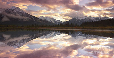 Reflecting Mountains Print by Keith Kapple