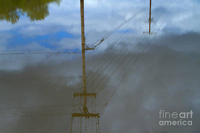 Telephone Poles Photograph - Reflection Of Electrical Power Poles In Water by David Buffington