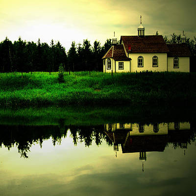 Reflection Of Faith  Print by JC Photography and Art