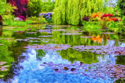 Reflections At Giverny Print by Dominic Piperata