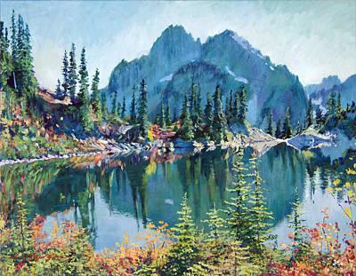 Reflections On Gem Lake Print by David Lloyd Glover