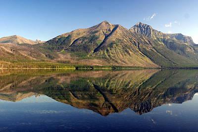 Reflections On Lake Mcdonald Print by Marty Koch