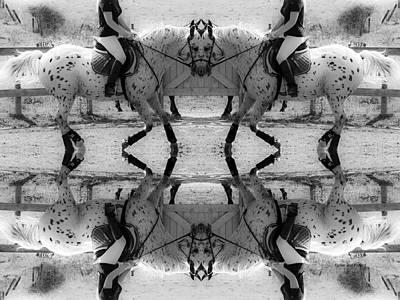Horse Show Digital Art - Reflective Thinking by Betsy Knapp