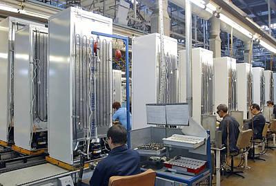 Refrigerator Factory Print by Ria Novosti