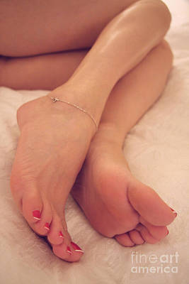 Sexy Soles Photograph - Relaxing Feet by Tos Photos