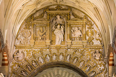 Relief Carving Photograph - Religious Reliefs In Mezquita Cathedral by Artur Bogacki