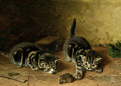 Two Tailed Painting - Reluctant Playmate by Horatio Henry Couldery