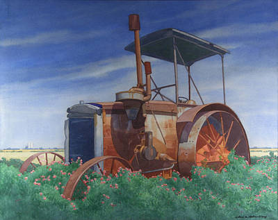 Remembrance Of A Tractor Print by Glen Heberling