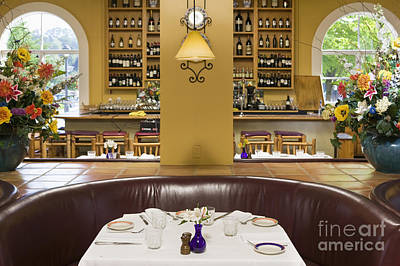Dining Out Photograph - Restaurant Table by Andersen Ross