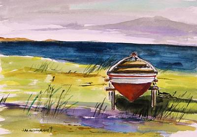 Seacoast Drawing - Resting In The Sun by John  Williams
