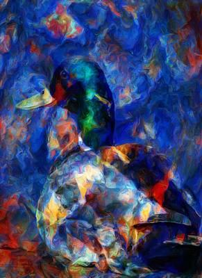 Waterfowl Digital Art - Resting by Jack Zulli