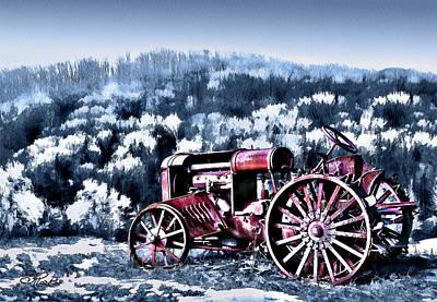 Retired Tractor Print by Suni Roveto