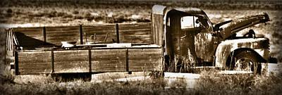 Retired Truck Print by Shane Bechler