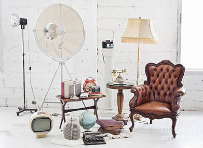 Empty Chairs Photograph - Retro Furniture by Setsiri Silapasuwanchai