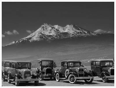 Antic Car Photograph - Retro In Black And White  by Irina Hays