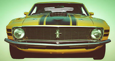 Automobile Photograph - Retro In Your Face by Gary Adkins