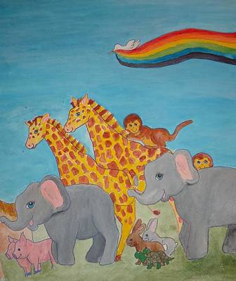 Return From The Ark Print by Heather Walker