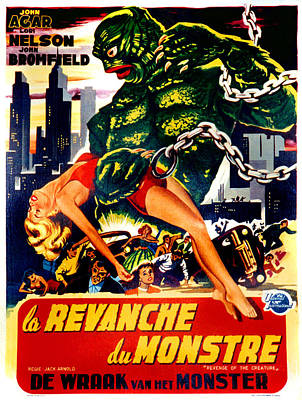 Revenge Of The Creature, Aka La Print by Everett