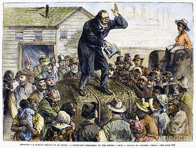 Sermon Photograph - Revival Meeting, 1882 by Granger