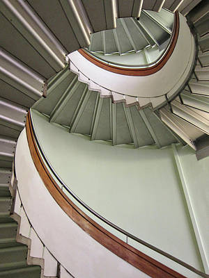 Revolving Stairs Print by Photo By Dasar