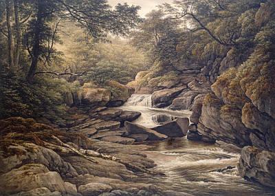 Wales Painting - Rhiadr Ddu Near Maentwrog North Wales by John Glover