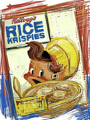 Elf Mixed Media - Rice Krispies by Russell Pierce