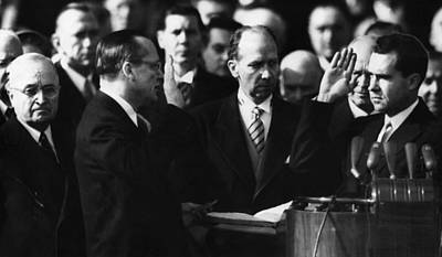 Swearing In Photograph - Richard Nixon First Vice Presidential by Everett