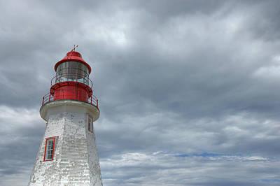 Riche Lighthouse, Port Au Choix Print by Robert Postma