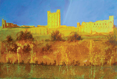 Richmond Castle In Gold Print by Neil McBride