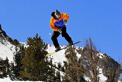 Skiing Action Photograph - Ride Utah by Christine Till