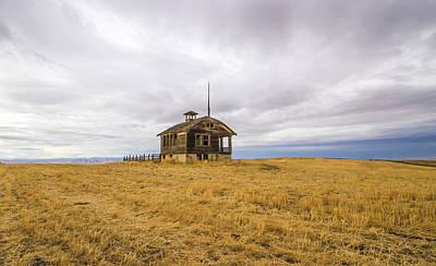 School Houses Photograph - Ridge Top School by Jean Noren