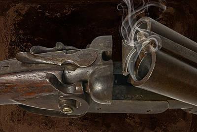Rusted Barrels Photograph - Ridin' Shotgun by Robert Hudnall