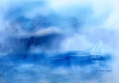 Boats Painting - Riding Out The Storm by Arline Wagner