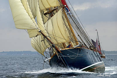 Wooden Ships Photograph - Riding The Wind by Robert Lacy