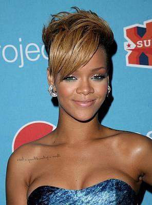Rihanna Photograph - Rihanna In Attendance For Pepsi Refresh by Everett
