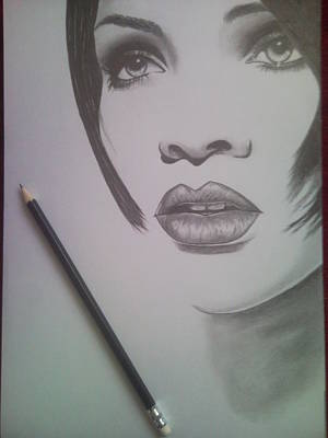 Rihanna Print by Lucia Vratiakova