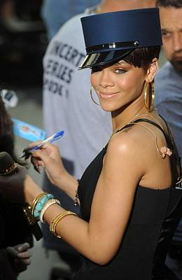 Rihanna Photograph - Rihanna On Stage For Nbc Today Show by Everett