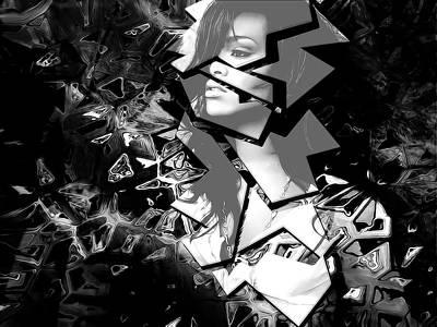 Rihanna Shattered Print by Anibal Diaz