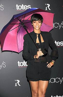 Rihanna Photograph - Rihanna Wearing Matthew Williamson by Everett