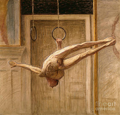 Ring Gymnast No 2 Print by Eugene Jansson